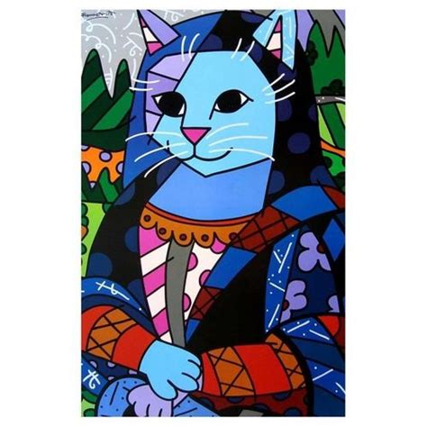 mona cat romero britto mona cat illustrations posters