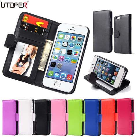 Tempered Glass Untuk Iphone 5s utoper magnetic leather wallet for iphone 5 5s se