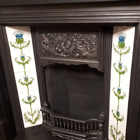 Floral Original Fireplace Insert For Sale   Victorian