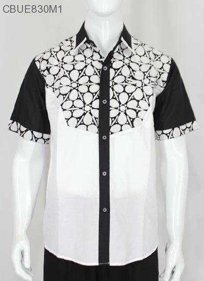 Kemeja Pendek Motif Putih kemeja batik pendek hitam putih kemeja lengan pendek