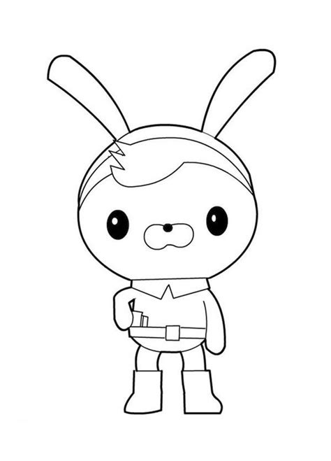 octonauts coloring pages awesome tweak bunny from the octonauts coloring page
