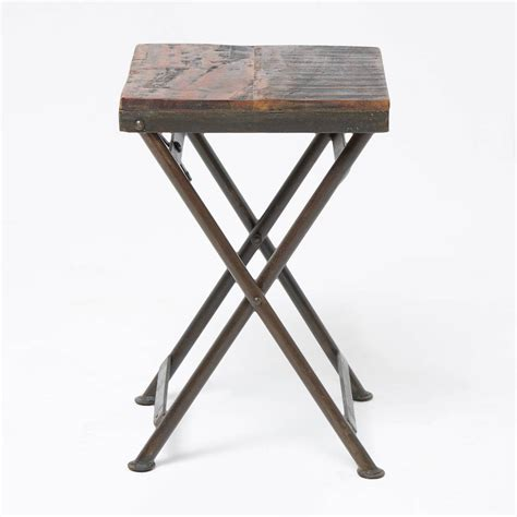 reclaimed wood stool side table by horsfall wright
