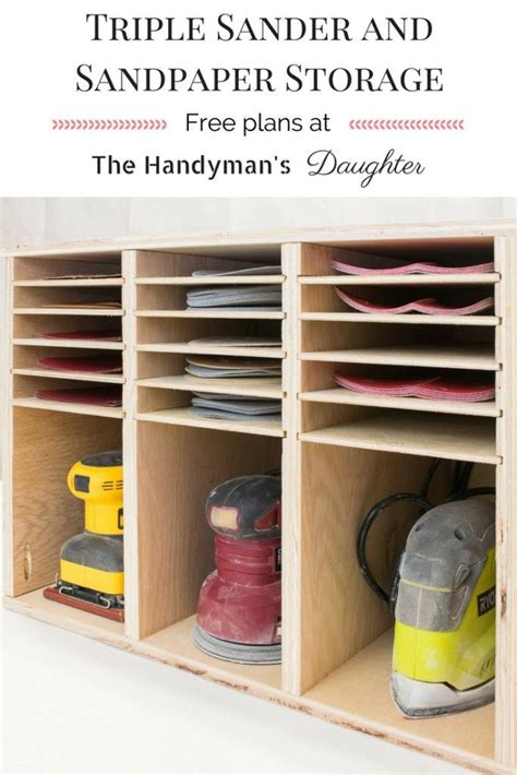 sander  sandpaper storage easy woodworking projects
