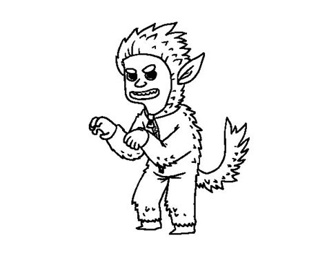 imagenes de hombres fuertes para colorear dibujo de disfraz de hombre lobo para colorear dibujos net