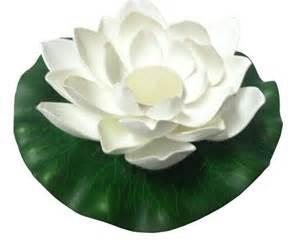Floating Lotus Flower Candles Foam Lotus Floating Water Lantern White