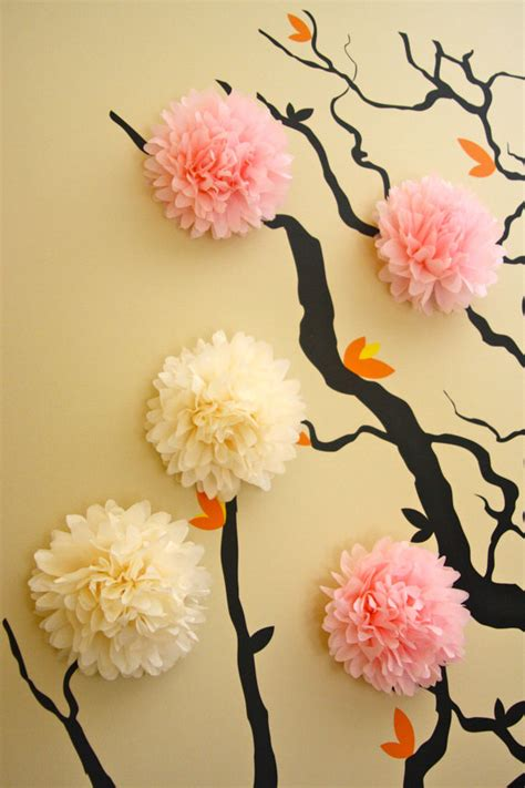 Paper Flower Decoration A2 items similar to 10 mini tissue paper pom poms wall decoration nursery decor 3d wall