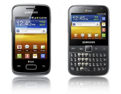 Hp Lg Android Dual Sim samsung galaxy y duos dan galaxy y pro duos handphone android dual sim card dari samsung