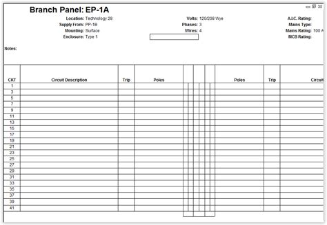 Customize Revit Electrical Panel Schedule Template Remove Phases Revit Products 2017 Electrical Panel Schedule Template