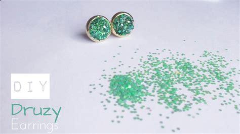 how to make druzy jewelry diy druzy stud earrings how to make faux druzy earrings