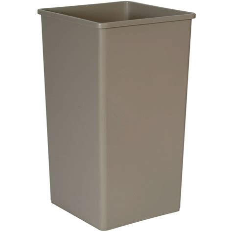commercial trash cans rubbermaid fg395900beig 50 gallon commercial trash can plastic square food