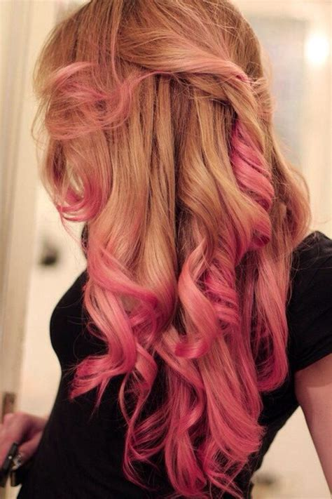 blone hair with pink streaks blond hair with pink highlights cotton candy pinterest