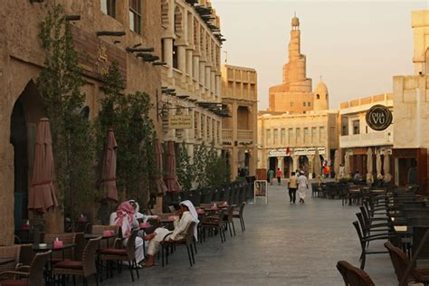 Modern Adobe Houses souq waqif in doha travel pictures