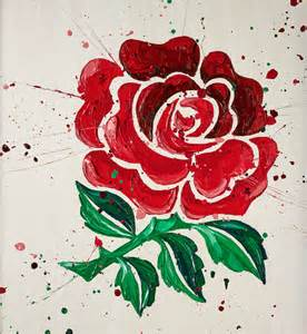 english rose paul oz hand embellished print