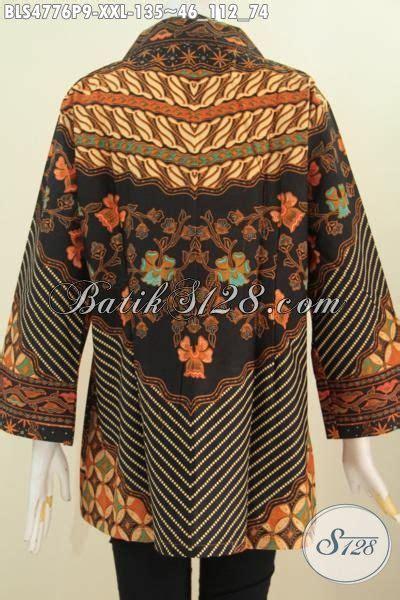 Blouse Batik Klasik Bisa Busui baju batik klasik elegan untuk wanita gemuk blus batik sinaran istimewa proses printing ukuran