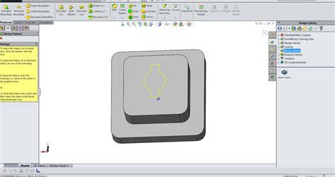 creating a ui pattern library how to create a library design feature in solidworks