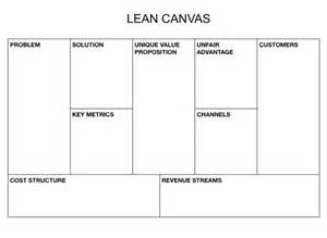 Lean Canvas Template Pdf by Business Goals Template Ebook Database