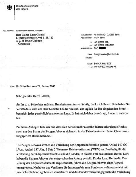 Zeugen Schreiben Muster Kompetenzen Und Inkompetenzen Zu Den Zeugen Jehovas Im Umfeld Otto Schily Politik Der