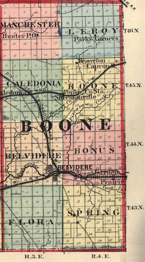 boone map the usgenweb archives digital map library illinois maps