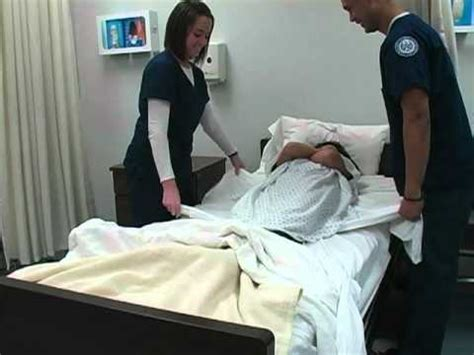 beds and bed making client care nursing nursing move a patient up in bed youtube