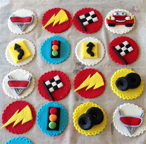 cars cupcake toppers fondant ideas cars cake and birthdays