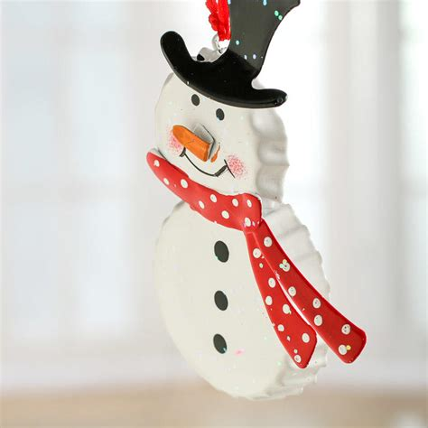 bottle cap ornaments bottle cap snowman ornament ornaments