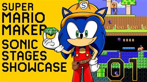 super mario maker mod green hill zone sonic the super mario maker sonic stages compilation 01 wii u