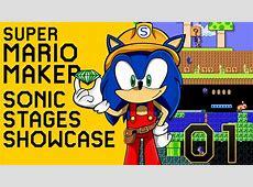 Super Mario Maker: Sonic Stages Compilation #01 [Wii U ... Lucas The Hedgehog