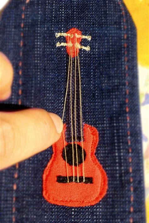 printable guitar bookmarks fabric bookmark guitar ukelele ukulele hand made and