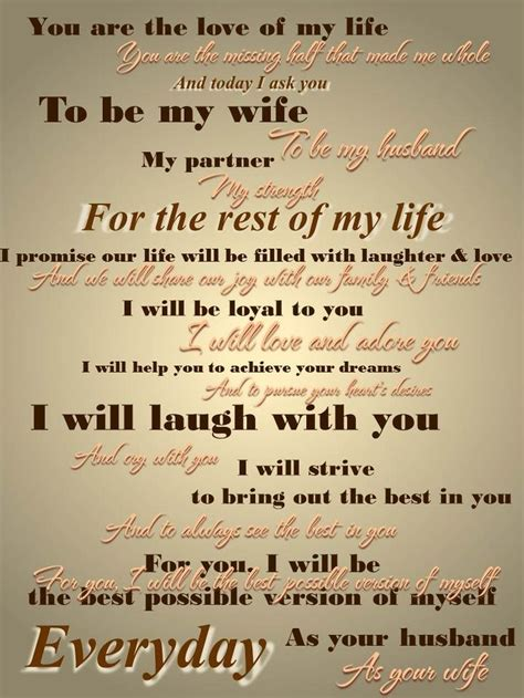 Wedding Vows For Her To Him Romantic