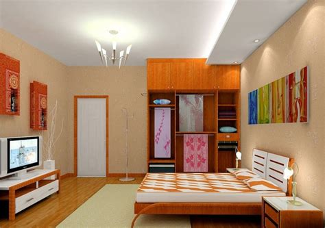 Tv For Small Bedroom by Small Bedroom Wardrobe And Clothing Rendering 3d House