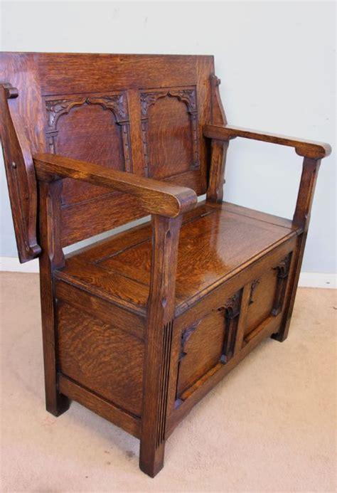 antique oak monks bench antique oak monks bench settle 462372 sellingantiques