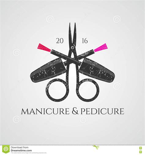 manicure vector logo stock vector image 73206382
