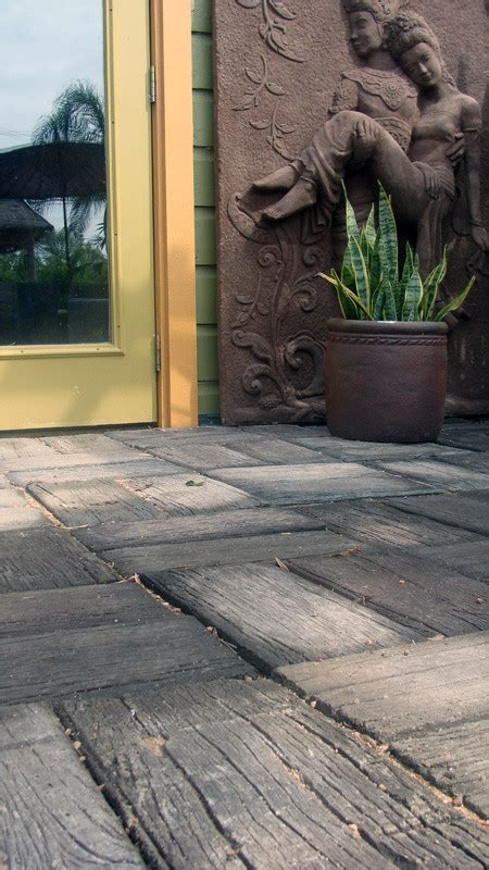 Wood Pavers For Patio Wood Grain Concrete Pavers Concrete Pavers Wood Grain And Concrete