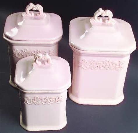 pink canister sets jcpenney vintage pink at replacements ltd
