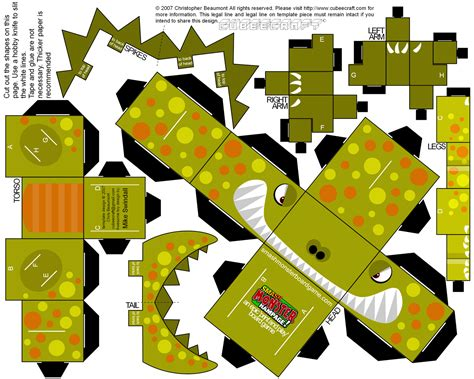 Dinosaur Papercraft - smash cubee original020 jpg 1482 215 1186