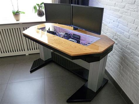desk pc case design adjustable custom computer desk mod fit for a true geek