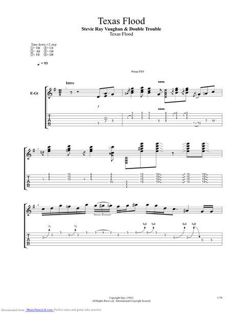 texas flood guitar pro tab  stevie ray vaughan  musicnoteslibcom