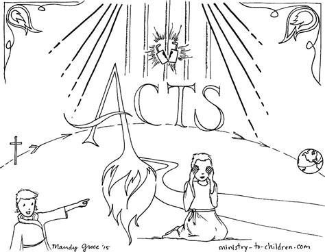 Coloring Pages Book Of Acts | this free coloring page is based on the book of acts it s