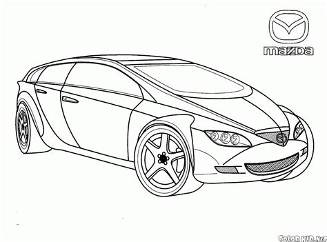 coloring page modern cars