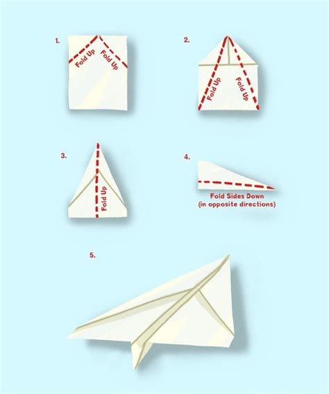 How To Make A Easy Paper Airplane - simple paper plane kid s crafts looks