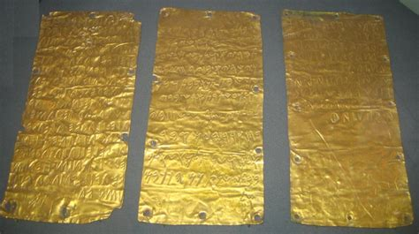 real gold plates discovered across the world authentic ancient metal plates temple study