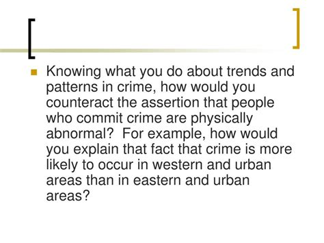 crime pattern theory exles ppt biological theories of crime powerpoint presentation