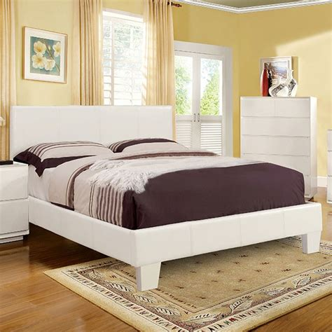 White California King Bed Frame Furniture Of America 7008whck White Platform California King Bed Frame