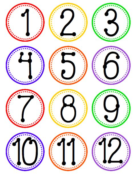 printable numbers on circles pictures of the number 12 cliparts co