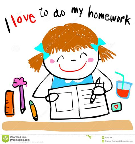 Do Home Work by Children Doing Homework Clipart Clipground