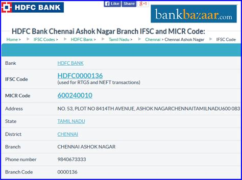 Search Branch Address By Ifsc Code Indian Bank Chennai Micr Code