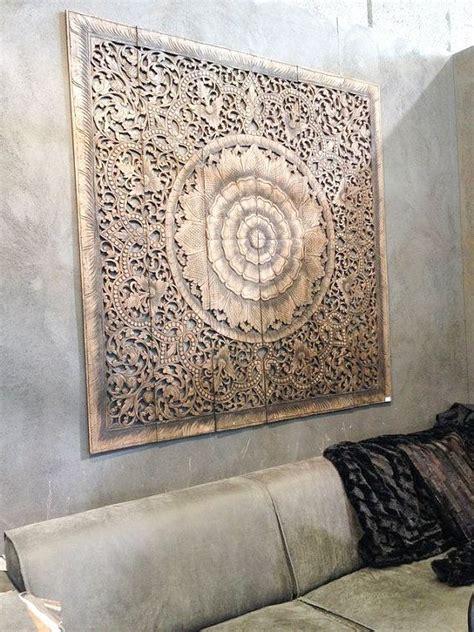 balinese wall decor carved wood wall art panel wall