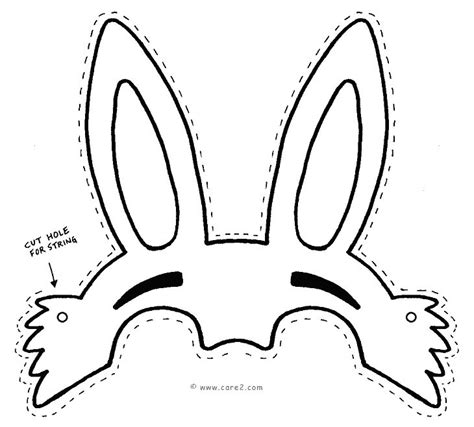 Easter Hat Template Printable by Best Photos Of Easter Bunny Mask Cut Out Easter Bunny