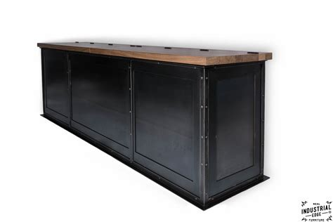 metal storage bench steel storage bench solid walnut top real industrial