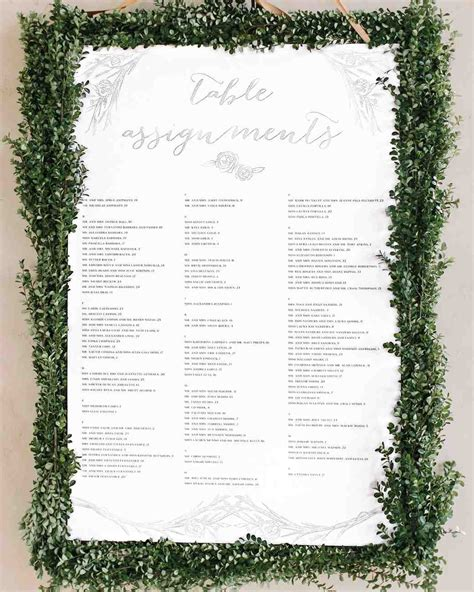 table charts for wedding reception 25 unique wedding seating charts to guide guests to their